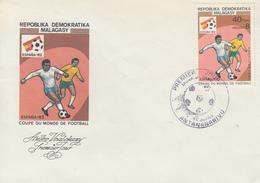 Enveloppe  FDC  1er  Jour   MADAGASCAR   Coupe  Du   Monde  De  Football   1982 - 1982 – Espagne