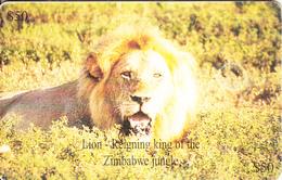 ZIMBABWE(chip) - Lion, Chip GEM3.1, Exp.date 12/00, Used - Simbabwe