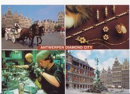CARTOLINA NUOVA DI ANVERSA ANNI '80 - VEDUTE - ANTWERPEN DIAMOND CITY - PERFETTA - Antwerpen