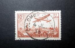 FRANCE POSTE AÉRIENNE 1936 N°13 OBL. (AVION SURVOLANT PARIS. 3F50 BRUN-JAUNE) - Airmail