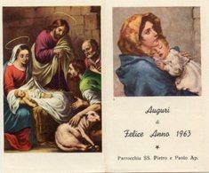 """Santino Depliant Antico 4 Pagine MADONNA DEL RIPOSO """"AUGURI DI FELICE ANNO 1963"""" - PERFETTO R3 - Religione & Esoterismo"""