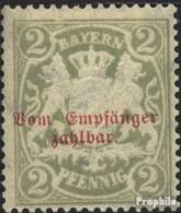Bavière P13y (complète.Edition.) Avec Charnière 1903 Etat Emblem - Beieren