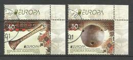Makedonien 2014  Mi.Nr. 694 / 695 ,  EUROPA CEPT - Musikinstrumente - Gestempelt / Used / (o) - Europa-CEPT