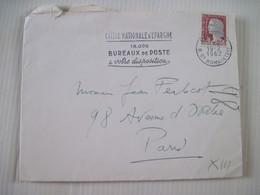 CAISSE NATIONALE D'EPARGNE PARIS   1962   TBE - Marcophilie (Lettres)