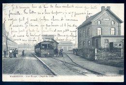 Cpa De Belgique Hainaut Warneton Pont Rouge -- Dépôt Du Tram ACH16 - Comines-Warneton - Komen-Waasten