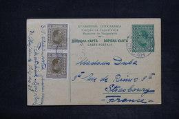 YOUGOSLAVIE - Entier Postal + Complément De Čačak Pour La France En 1930 - L 25991 - Postal Stationery