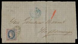 PUERTO RICO. 1865 (23 Dic). Playa Mayaguez - Sto Domingo / Republica Dominicana / Periodo Administracion Española. Carta - Puerto Rico