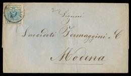ITALY Lombardy - Venetia. 1857 (1 Aug). Milano - Modena. E Fkd 45 Cents Full Margins / Cds. VF. - Italy