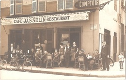Dépt 69 - LYON (angle R. Du Prof. Weill / Rue Bossuet) - CARTE-PHOTO Devanture CAFÉ-RESTAURANT JASSELIN - Bière WINCKLER - Lyon