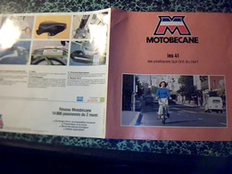 Publicitè  Tract 2 Pages Motobecane Mobylette  Les 41 - Publicités