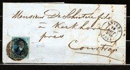 """7 Sur LAC + Variété """"Griffe"""" - 1851-1857 Medaillen (6/8)"""