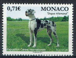 Monaco, Canine Show, Great Dane, 2017, MNH VF - Unused Stamps