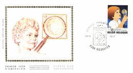 Belgium 1981 Mi. 2073 COB 2021 FDC Silk, Jeugdfilatelie / Philatélie De La Jeunesse, Boy Globe Pincette - 1981-90