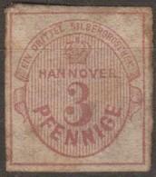 Germania Hannover 1853-1859 3Pf / 1/30 Sgr 1v (*) - Hanover