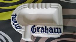 Vintage Keramieken Asbak Van Het Porthuis Graham - Reclame