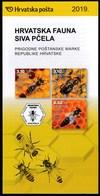 Croatia 2019 / Croatian Fauna - Carniolan Honey Bee / Prospectus, Leaflet, Brochure - Croatia
