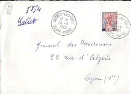70 - HAUTE SAONE - AUTREY LES GRAY - 1960 - TàD De Type A6 - Storia Postale