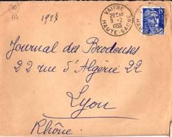 70 - HAUTE SAONE - VAIVRE - 1955 - TàD De Type A7 - Storia Postale