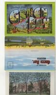 GREEN BAY, Wisconsin, USA, Old Linen Souvenir Fold-Out Postcard - Green Bay