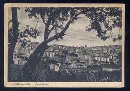 CALTANISSETTA-PANORAMA-AL RETRO PUBBLICITA' BIRRA MESSINA - Caltanissetta