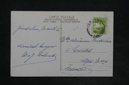 PALESTINE - Affranchissement De Jérusalem Sur Carte Postale En 1935 Pour La France - L 26007 - Palestine