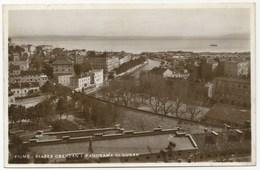 FIUME - PIAZZA OBERDAN E PANORAMA DI SUSAK  - CARTOLINA VIAGGIATA NEL 1934/XII - Croatia