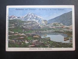 CP ALLEMAGNE DEUTSCHLAND (V1902) DUSSELDORF 1902 (2 VUES) Suldenthal Und Zillerthal - Dusseldorfer Hütte Im Ortlergebiet - Duesseldorf