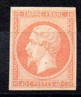 FRANCE - YT N° 16 Signé Calves - Neuf (*) - Cote: 1100,00 € - 1853-1860 Napoléon III
