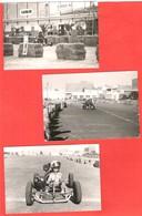 Lot De 3 Photos Piste Et Course De Karting En AFN Algérie Ou Tunisie Années 50 Publicité Havoline Bougie AC - Sport