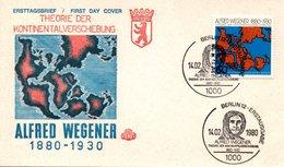 Germany 1980FDC Wegener, Continents Migration - [5] Berlin