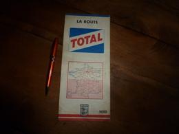 Carte Routiere Distribuée Par TOTAL ------> Région Du NORD  Avec Détail Région De Paris - Cartes Routières