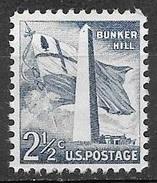 1959 Liberty Series, 2-1/2 Cents Bunker Hill Mint Never Hinged - Stati Uniti