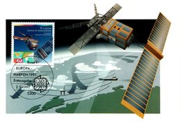 Germany 1991 Maximum Card Europa, Space - [7] Federal Republic