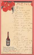 "Menu RESTAURANT BOURGADE (ST ANDRE DE VALBORGNE ?) Nov 1935 - PUBLICITE ""CHERRY ROCHER"" Cerises - Menus"