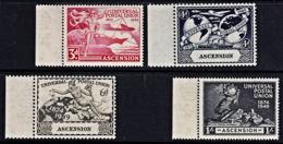 B5148 ASCENSION 1949, SG 52-53 75th Anniv Universal Postal Union, UPU,  MNH Marginal Set - Ascension (Ile De L')