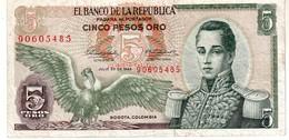 Colombia P.408 5   Pesos 1968 Vf+ - Colombia