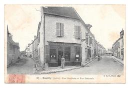 (23624-36) Reuilly - Rue Gambetta Et Rue Nationale - Autres Communes