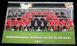 CARTOLINA NAZIONALE DI CALCIO RUSSIA 2011-RUSSIA FOOTBALL NATIONAL TEAM/EQUIPE POSTCARD-FORMATO/SIZE ~12X17 CM - Calcio