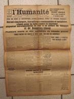 Journal L'Humanité. N° 12842 Du 10 Février 1934. Grève,  émeute à Paris. Stavisky - Zeitungen