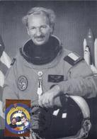 Belgium 2004 Mi. 3286 MC CM Maximum Card, Dirk Frimout And Frank De Winne, Belgian Astronauts, Space Globe - Europa
