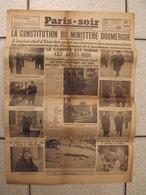 Journal Paris-Soir. N° 3778 Du 10 Février 1934. Grève,  émeute à Paris. Doumergue - Newspapers