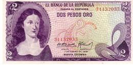 Colombia P.413   2 Peso 1972 Unc - Colombia