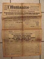 Journal L'Humanité. N° 12840 Du 8 Février 1934. émeute à Paris. Croix De Feu. Facisme - Zeitungen