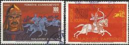 TURKEY 1971- Mi. 2232-33 O, 900th Anniversary Of The Malazgirt Victory - 1921-... Republik