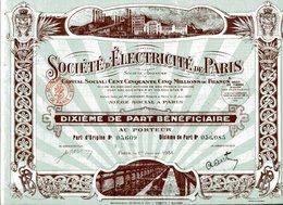 Société D'ÉLECTRICITÉ De PARIS - Electricité & Gaz