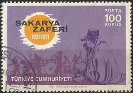 TURKEY 1971 - Mi. 2234 O, Battle Of Sakarya Victory   Supreme Commander ATATÜRK With Binoculars   Rising Sun   Military - 1921-... Republik