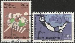 TURKEY 1971 - Mi. 2238-39 O, Izmir Mediterranean Games - 1921-... Republik