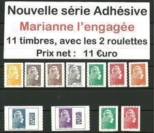Adhésif Série Complète Marianne L'Engagée 2018 - Adhésifs (autocollants)
