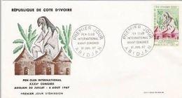 FDC Cote D'Ivoire  Pen Club 1967. - Costa D'Avorio (1960-...)