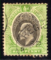 Southern Nigeria 1903 - 04 KEV11 1/2d Black & Green SG 10 ( M1499 ) - Nigeria (...-1960)
